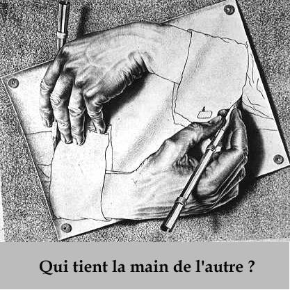 Escher mains